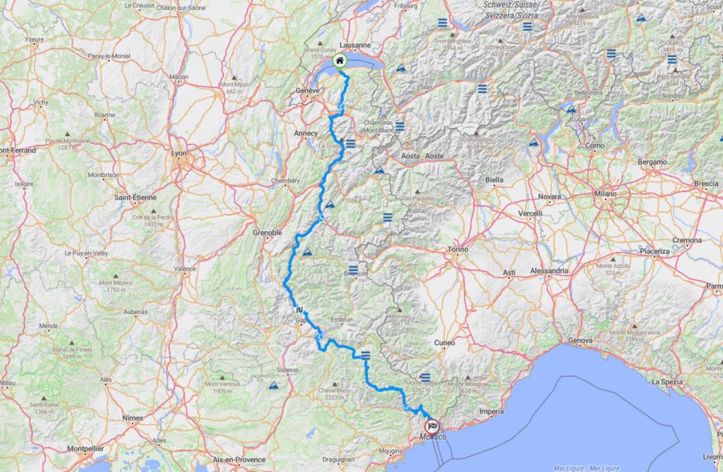 Roadbook Thonon-les-bains_Monaco