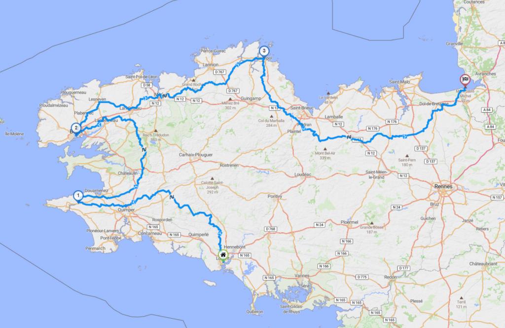 Roadbook côte bretonne