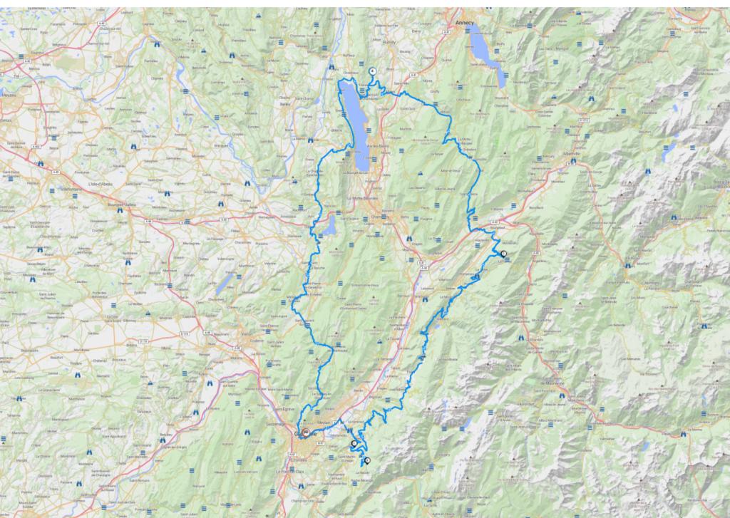 Roadbook circuit Grenoble